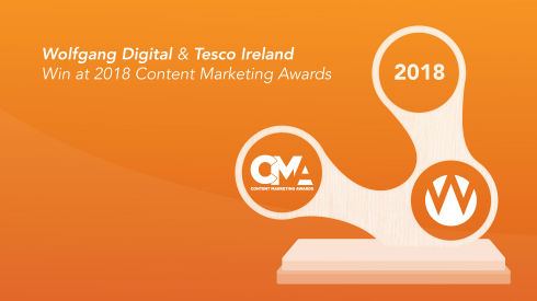 Wolfgang Digital and Tesco Ireland Win Global Content Marketing Award