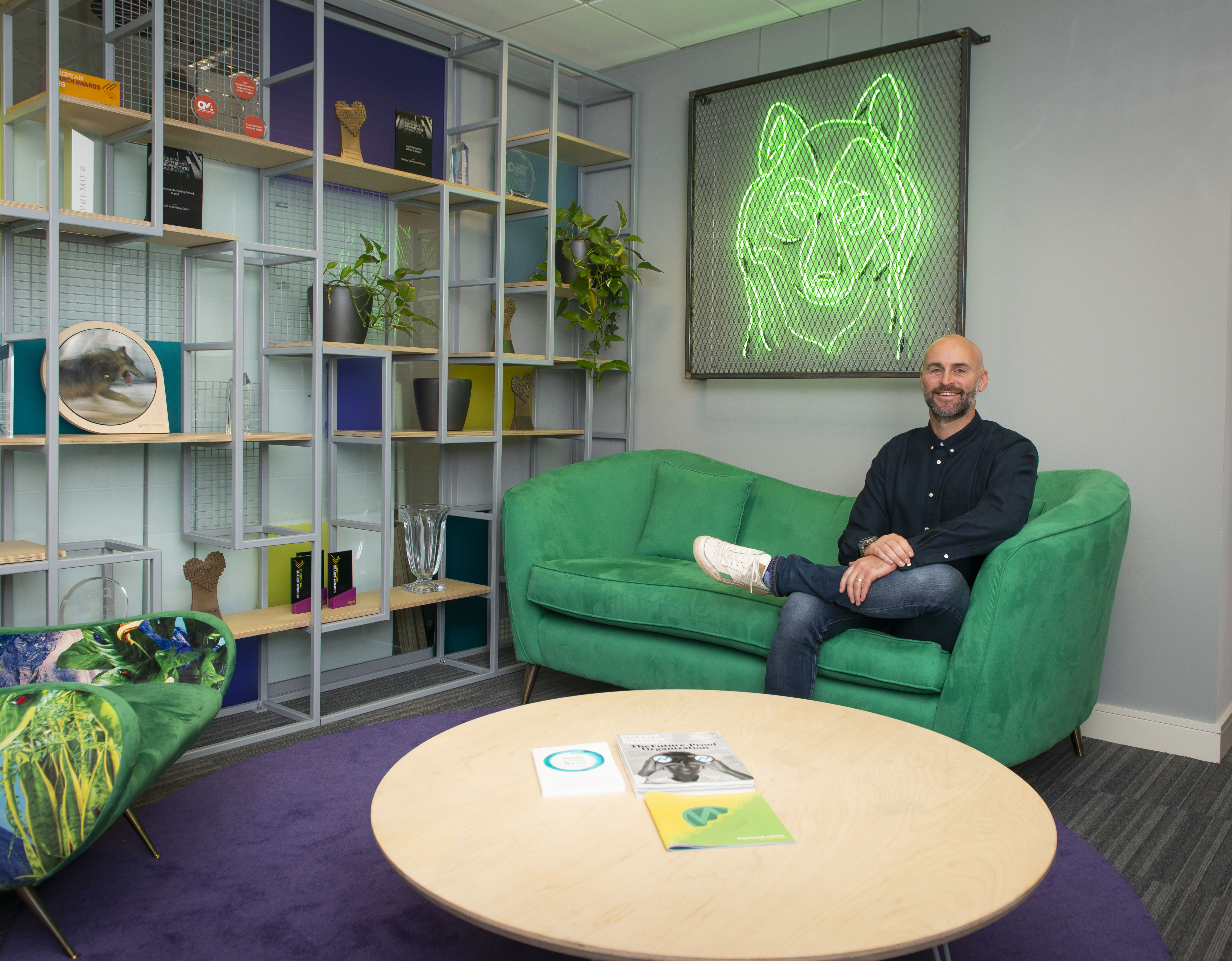 Alan Coleman Wolfgang Green Sofa