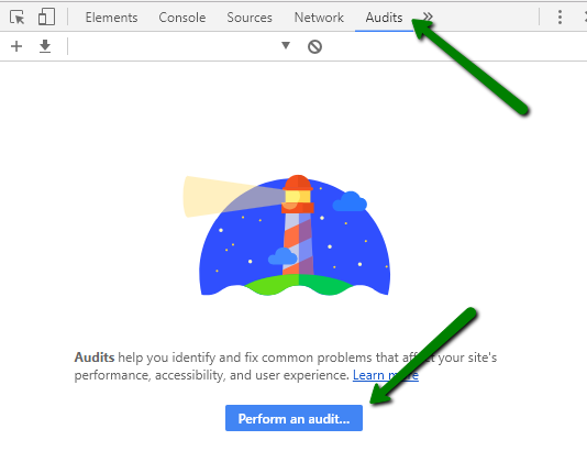 Google Lighthouse Audit