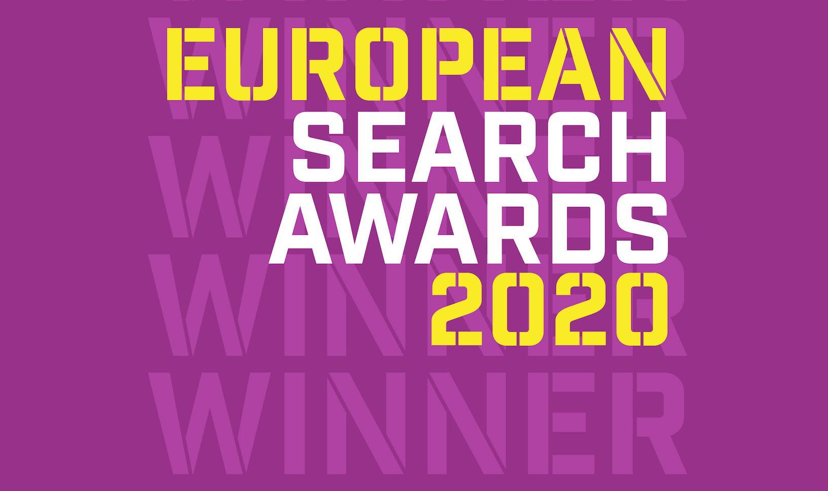 european search awards 2020 winner logo