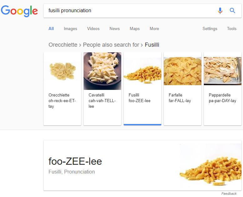 Fusilli Pronunciation