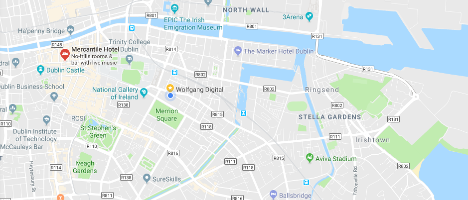 Google Maps Redesign Dublin