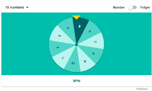 Google Number Wheel