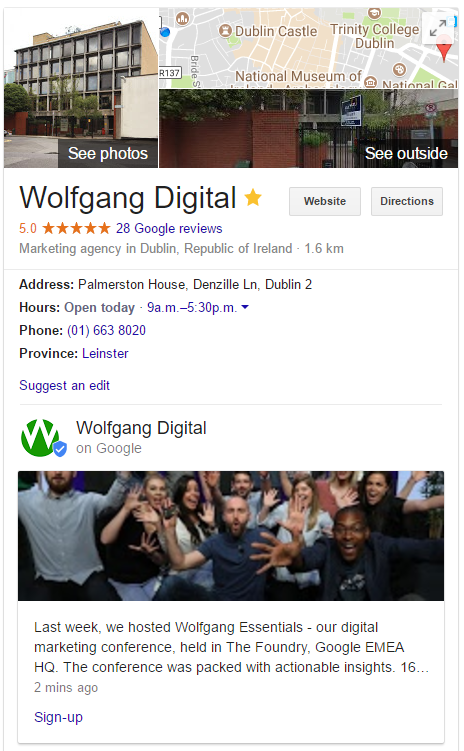 Google Posts - 7 - Wolfgang Digital