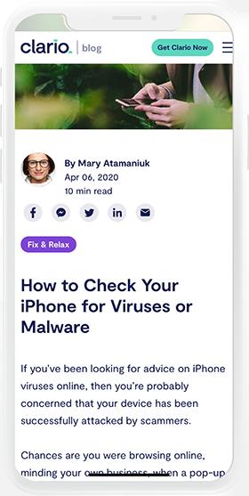 Clario article screenshot