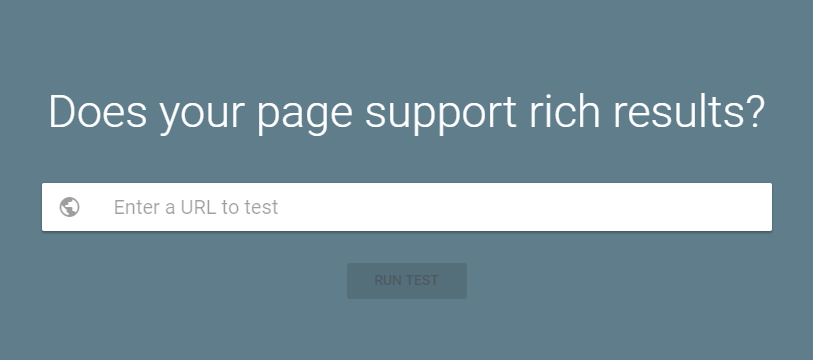 Rich Results Testing Tool