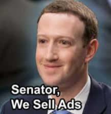 We sell ads senator