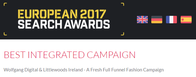 Best Integrated Campaign - European Awards 2017