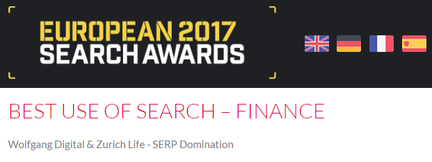 Best Use of Search - European Awards 2017