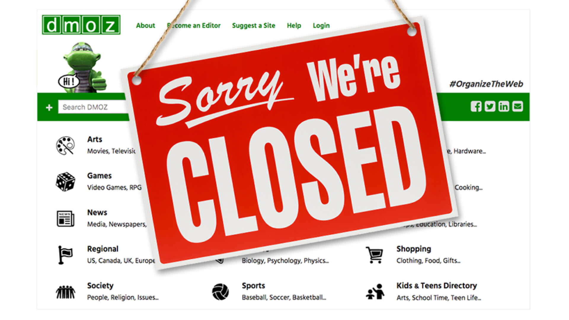 DMOZ Closed - SEO Down Low