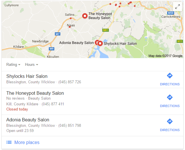 Google Local Pack For 'Near Me' Search
