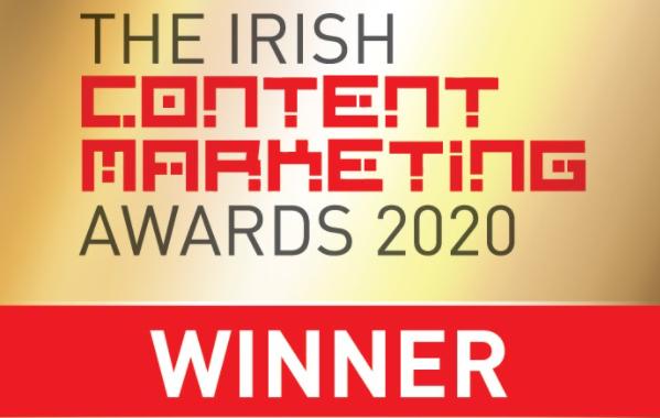irish content marketing awards 2020 winners badge