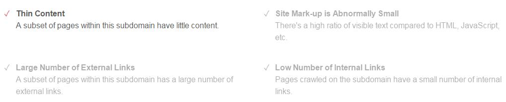 moz spam score criteria