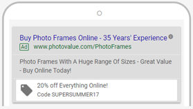 promotion links in adwords