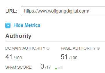wolfgang digital spam score